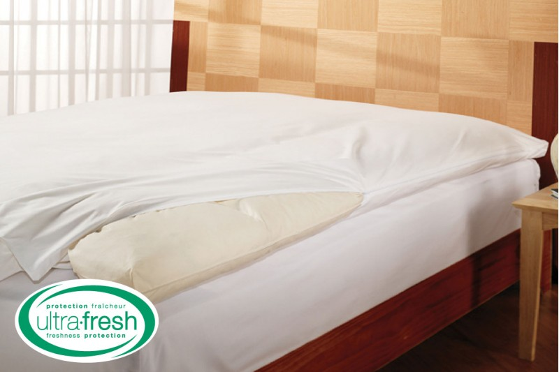 Ultra Fresh Feathered Bed Protectors