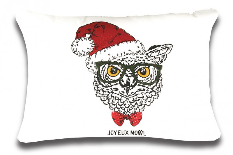 Hipster Christmas Owl